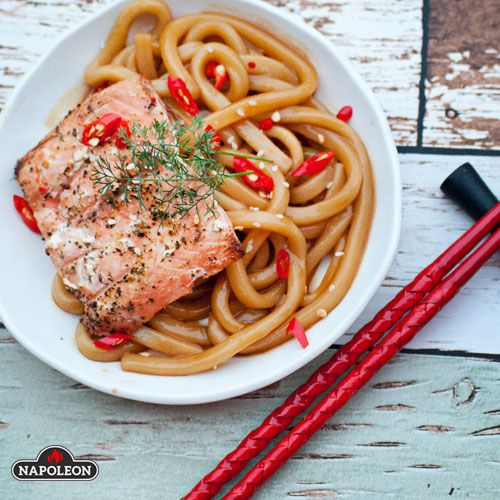 Salmon Udon with Orange Sauce