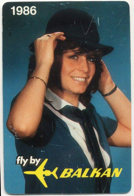Balkan Airlines 1986 Pocket Calendar