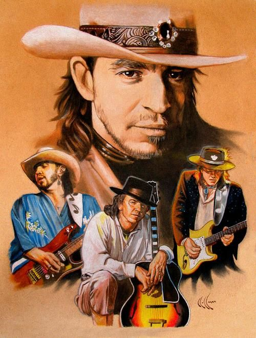 Stevie Ray Vaughan... I've always loved the photo on Greatest Hits album because of his eyes...they're so kind :) ♥♥