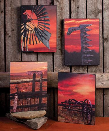 Another great find on #zulily! Sunset Farm Canvas - Set of Four #zulilyfinds