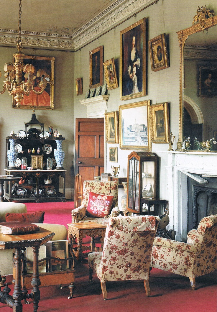 The Salon   Stradbally Hall Dates From 1740. Picture From Romantic Irish  Homes, By Part 98