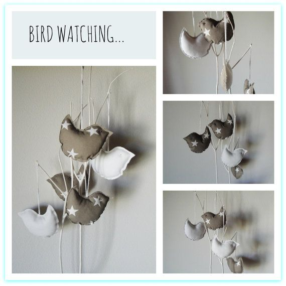 Pendant decoration Bird Watching . Simpatic bird can di OwlDellEst, €3.00