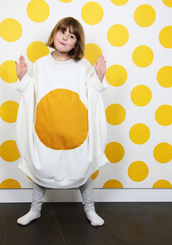 Egg-cellent Fried Egg Costume | My Poppet Makes