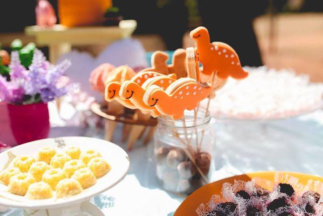 Aniversário, Dinossauro, Parque, Festa, Dinossaur, Party, Dino, Menina, DIY, biscoito amanteigado, Raining Sugar