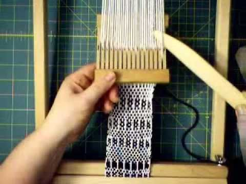 Pattern Weaving with Pick Up Stick Rigid Heddle Loom - YouTube