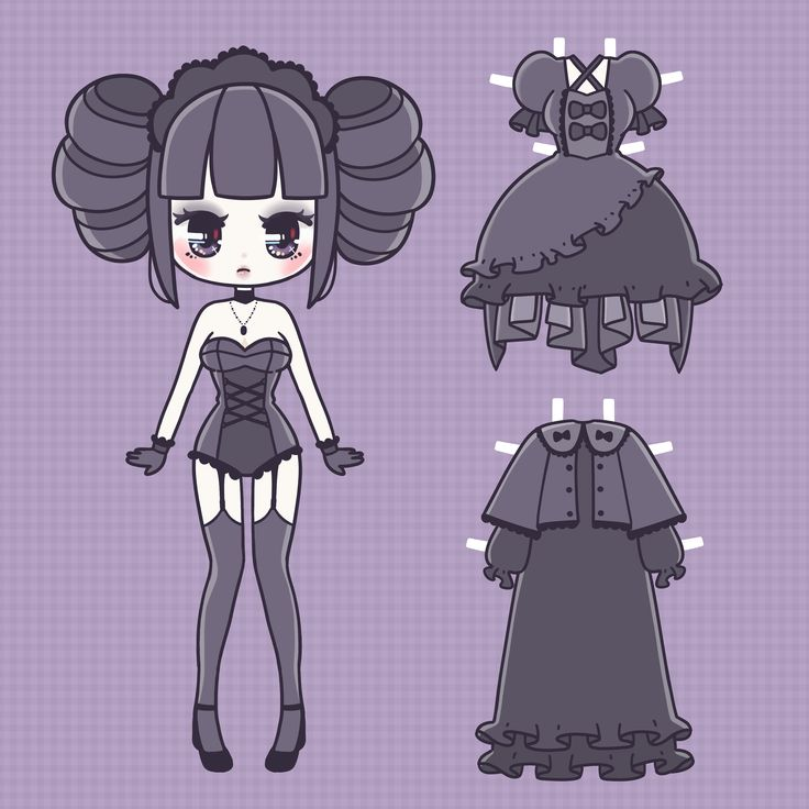 a free printable gothic lolita paper doll for japan lover mes spooky halloween month
