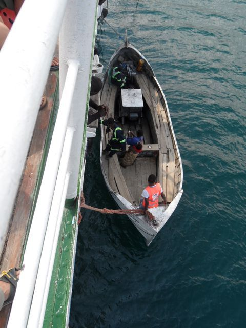 The #Lifeboat at #Metangula is used to load and unload people and passengers from the #Ilala