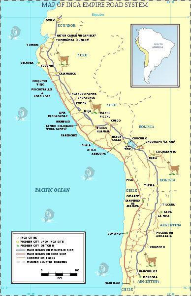 Inca road system map-en.