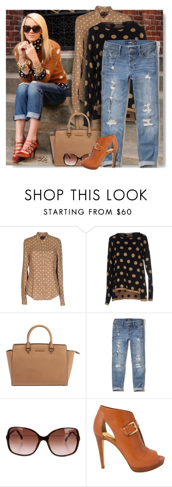 """""""Trends - Polka Dots"""" by breathing-style ❤ liked on Polyvore featuring Department 5, BERNA, Michael Kors, Hollister Co., Chanel and MICHAEL Michael Kors"""