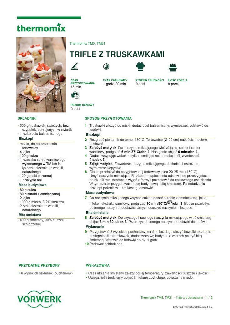 thermomix - Trifle z truskawkami