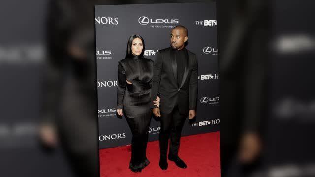 Kim Kardashian y Kanye West coordinan sus trajes Balmain para los premios BET Honors