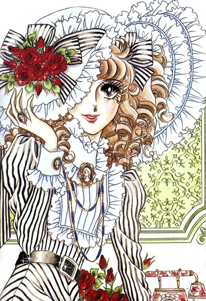 Art by manga artist Riyoko Ikeda.