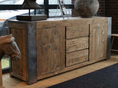 Sideboard Holz Stahl Industriedesign kaufen im borono Online Shop