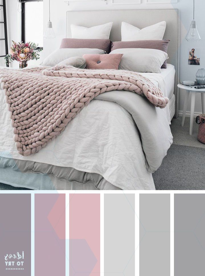 Pale Pink Bedroom With Wooden Furniture And Woven Accessories Bedroomcolor Bed Pale Pink Bedrooms Bedroom Color Schemes Beautiful Bedroom Colors