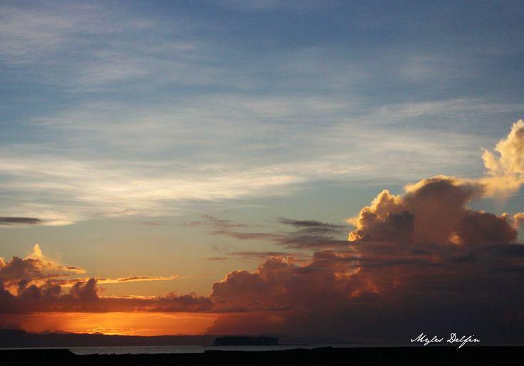 Sunrise in Tacloban City after Typhoon Yolanda.