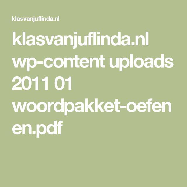 klasvanjuflinda.nl wp-content uploads 2011 01 woordpakket-oefenen.pdf