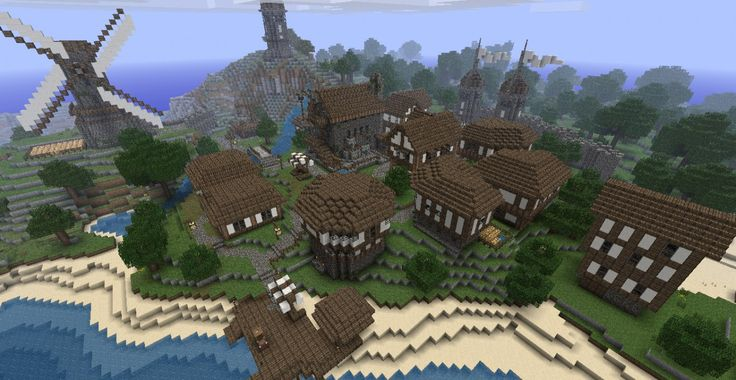 Medieval Seaside Village/Town Minecraft Project