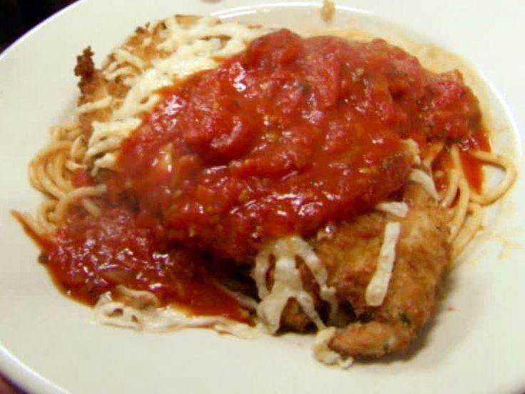 Chicken Parmesan recipe from Robert Irvine via Food Network