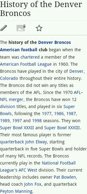 History of the Broncos