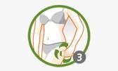 Paso 3 -   Stick anticelulítico Thiomucase Extreme Areas    El masaje activa la circulación sanguínea y potencia la eficacia del producto.