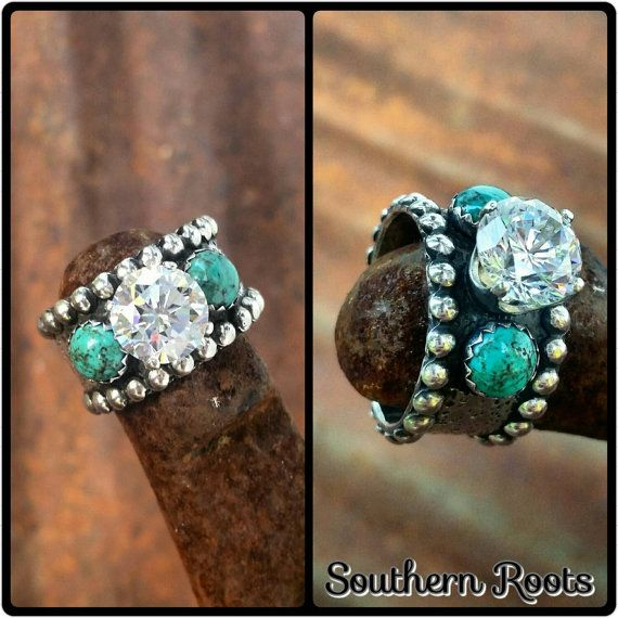 Custom Made Sterling Silver Statement Ring - Cowgirl Bling & Southwestern Accessories - By KreativeRustics (formerly Southern Roots) Western Jewelry