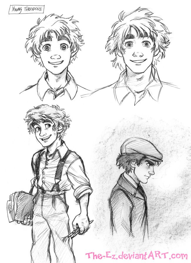 Good examples of faces for men. (Teen Theodore Roughs - August 2013 by The-Ez on deviantART)