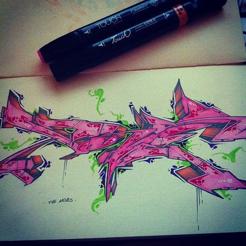 The Moves by ATEW ONE #graffiti #sketch #style #letters #life #underground #hiphop