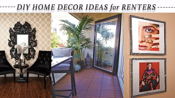 8 EASY HOME DECOR REVAMP IDEAS for RENTERS 2016!