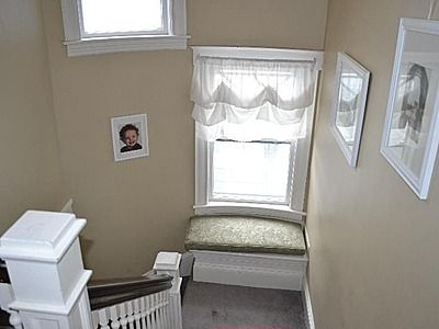 Small bench seat in stairwell