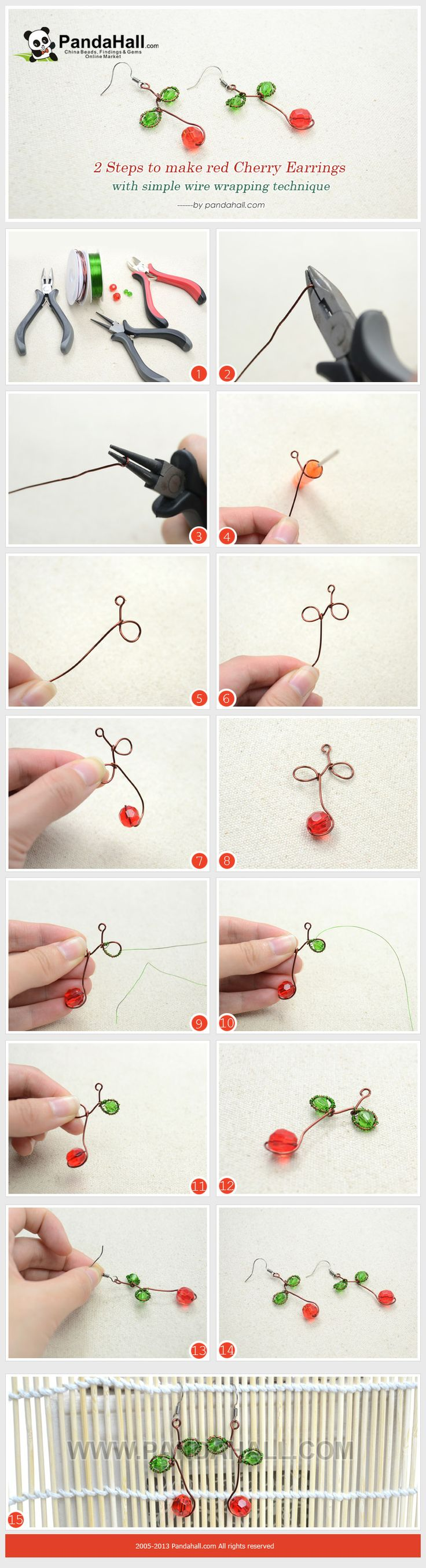 364 best Wire wrap tutorials images on Pinterest | Wire jewelry ...