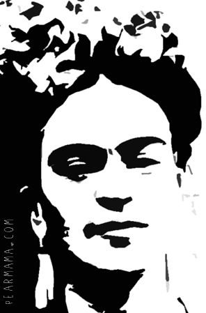 FREE Frida Kahlo Stencil Printable!
