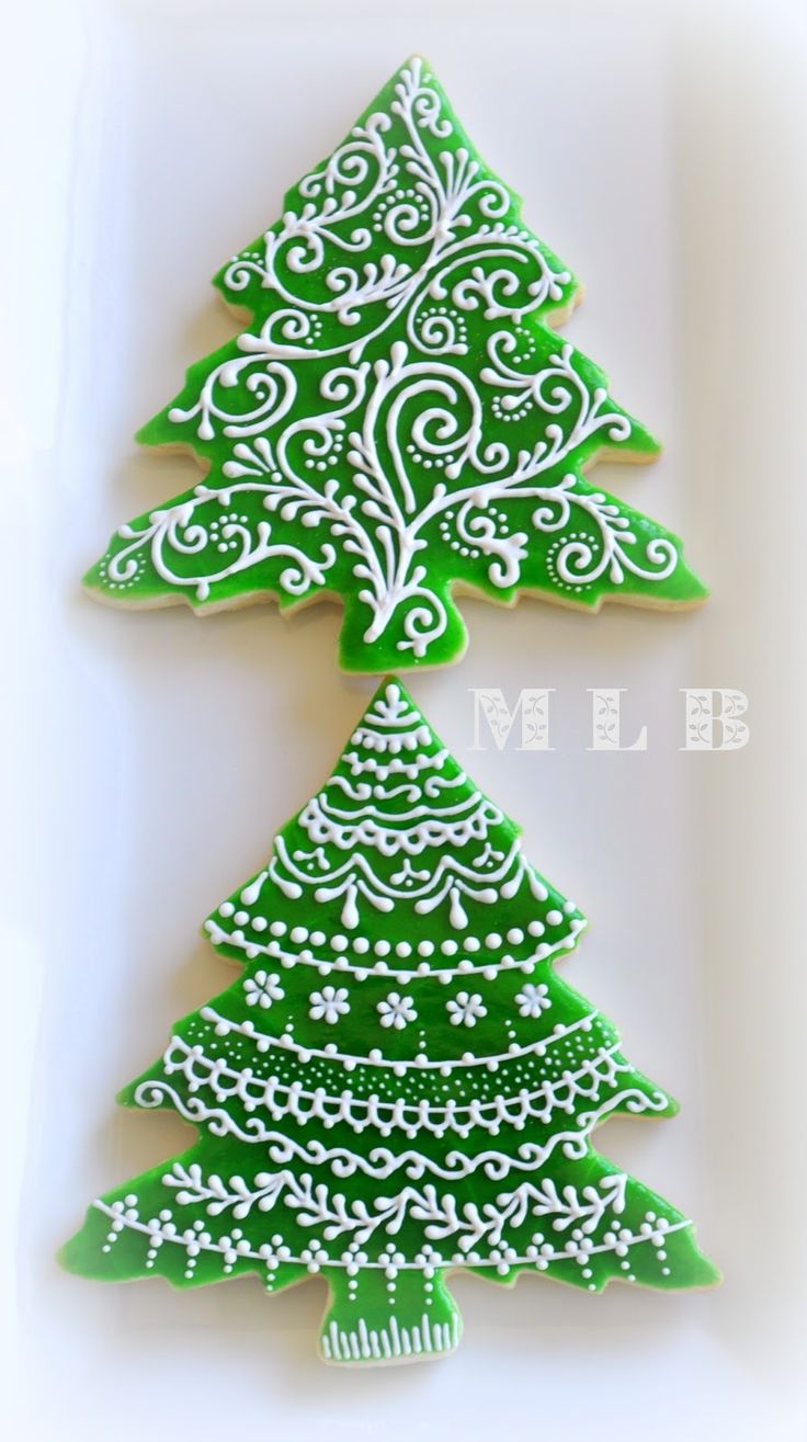 Christmas Tree Cookies | My little bakery :): Christmas tree cookies...And polish-glaze recipe ...