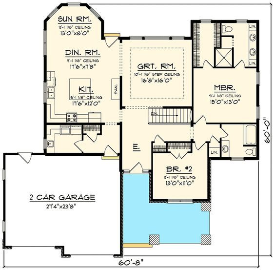 Plan 89910ah 2 Bedroom Craftsman Ranch Ranch House Plans Craftsman House Plans Garage House Plans