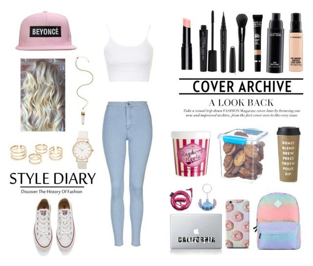 """Untitled #26"" by daaniellestarling on Polyvore featuring Topshop, Converse, Vans, MAC Cosmetics, MAKE UP FOR EVER, Marc Jacobs, Smashbox, Disney, Kate Spade and Sistema"