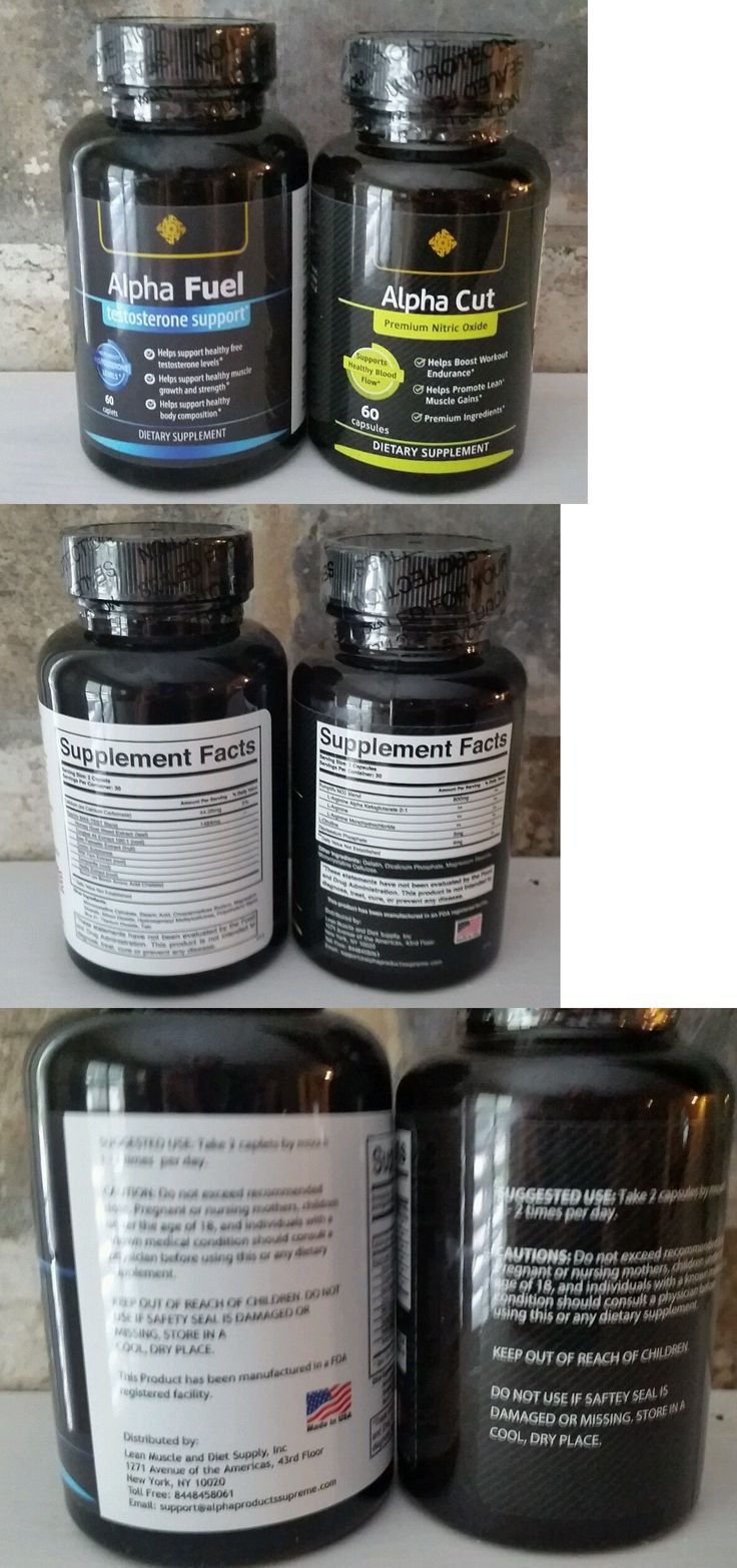 Sports Vitamins and Minerals: Alpha Fuel And Alpha Cut Testosterone Enhancer No2 Brand New BUY IT NOW ONLY: $45.99