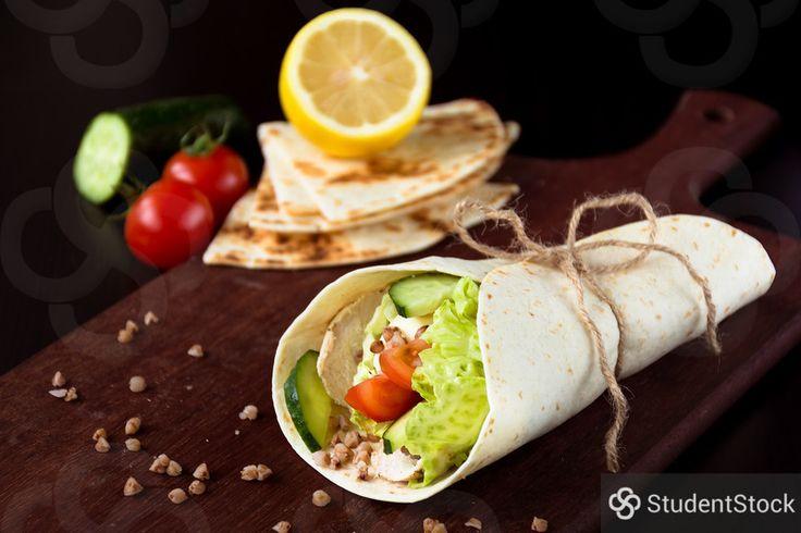 "StudentStock - ""Healthy vegetable wrap"" by Vladislav Nosick"