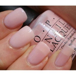 I picked this color to wear to my baby shower, of course I'm having a girl! Great quality nail polish as always from OPI and the color is just perfect for a base coat for a french manicure. Will supply customer image because I loved how my nails look!