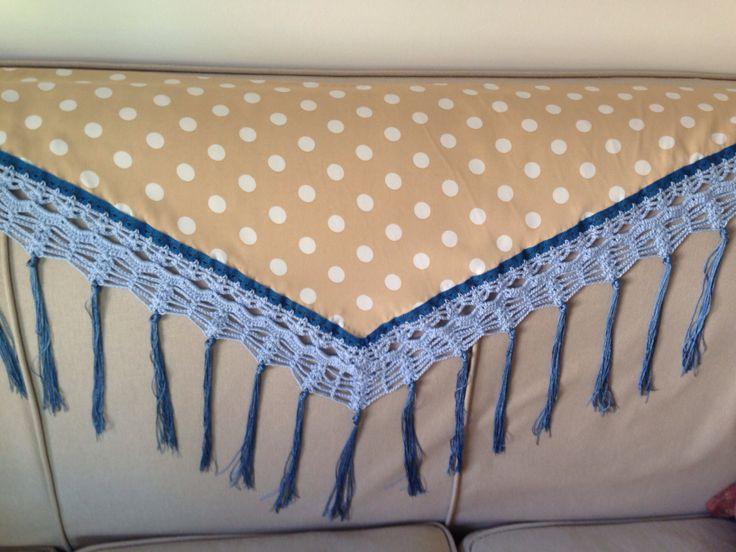 Mantoncillo NCM beige con algodón y cuquillo azul. mantoncillosncm@gmail.com