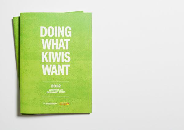 The Warehouse Community & Environmental Report on Behance