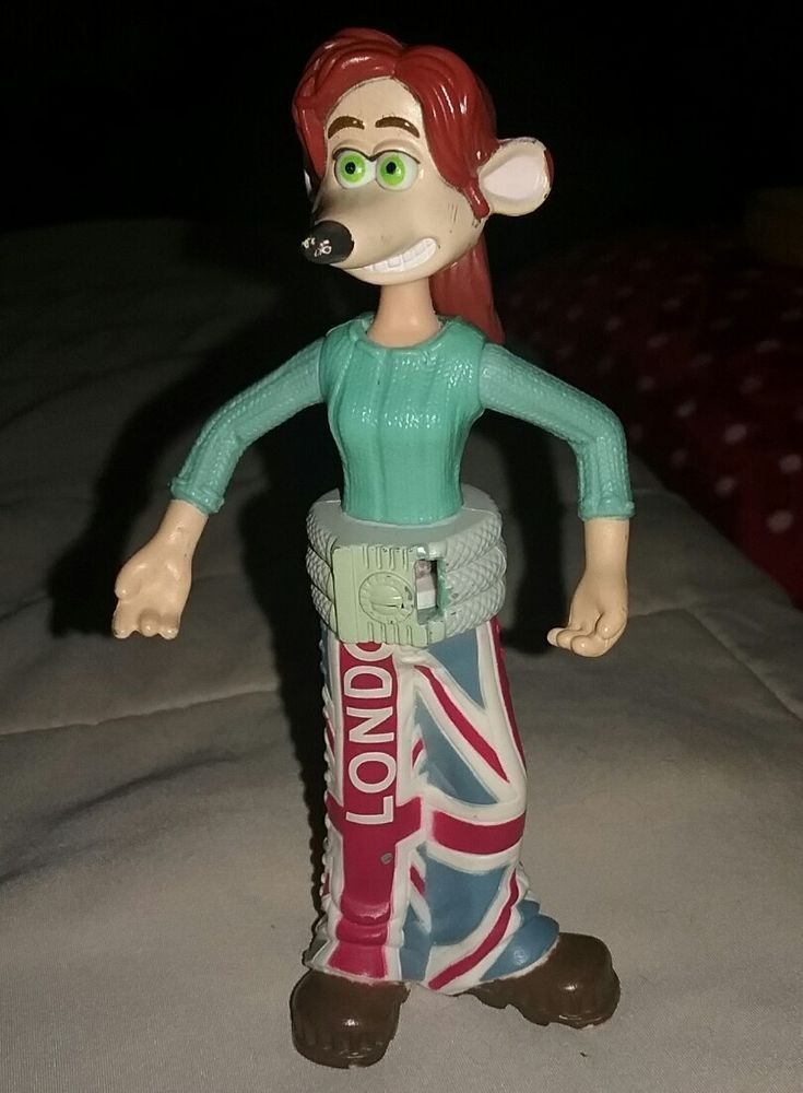 "2006 ""Flushed Away"" Rita McDonald's Toy with London Flag Pants with Pony Tail  
