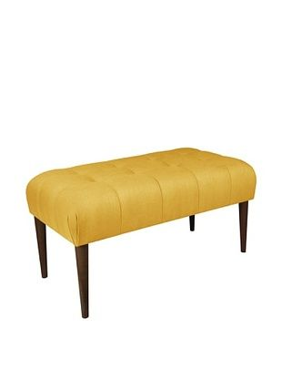 51% OFF Skyline Furniture Button-Tufted Bench, French Yellow