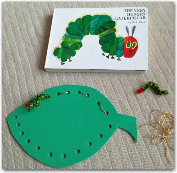The very hungry caterpillar threading from Here Come the Girls