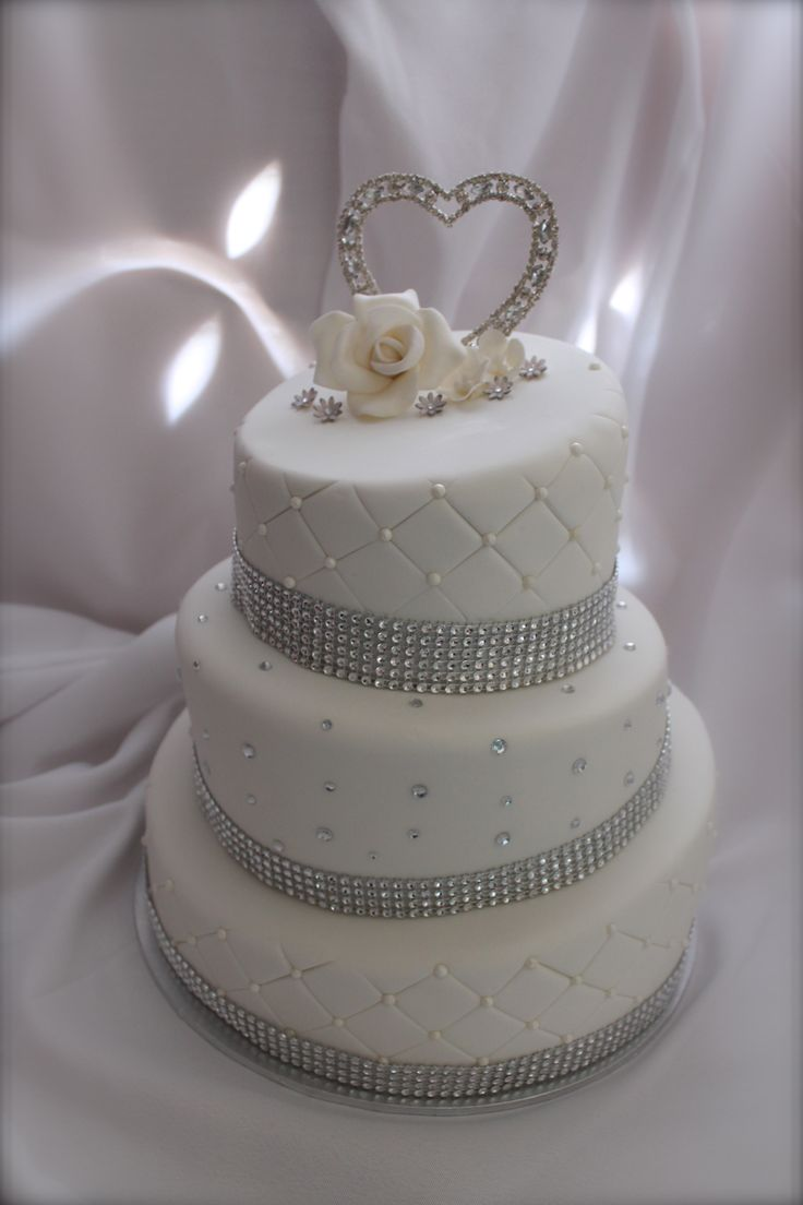 white and silver wedding cake My Cakes Pinterest ...