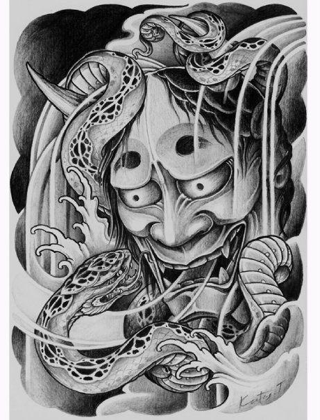 hannya japanese tattoo