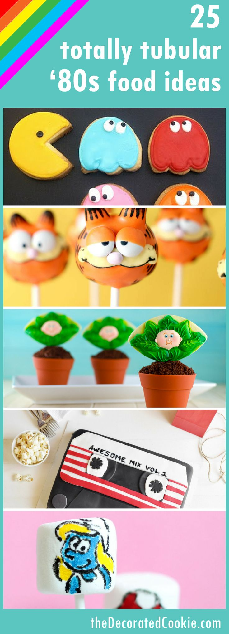 80s party fun food ideas roundup