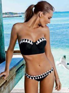 Pily Q Diamond Bralette Banded Full Bikini 2014 Suit