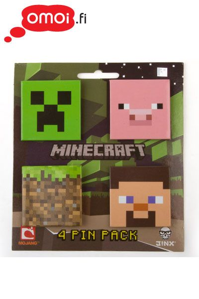 Minecraft Badge set (set of 4) - 9,90EUR : Manga Shop for Europe, A great selection of anime products