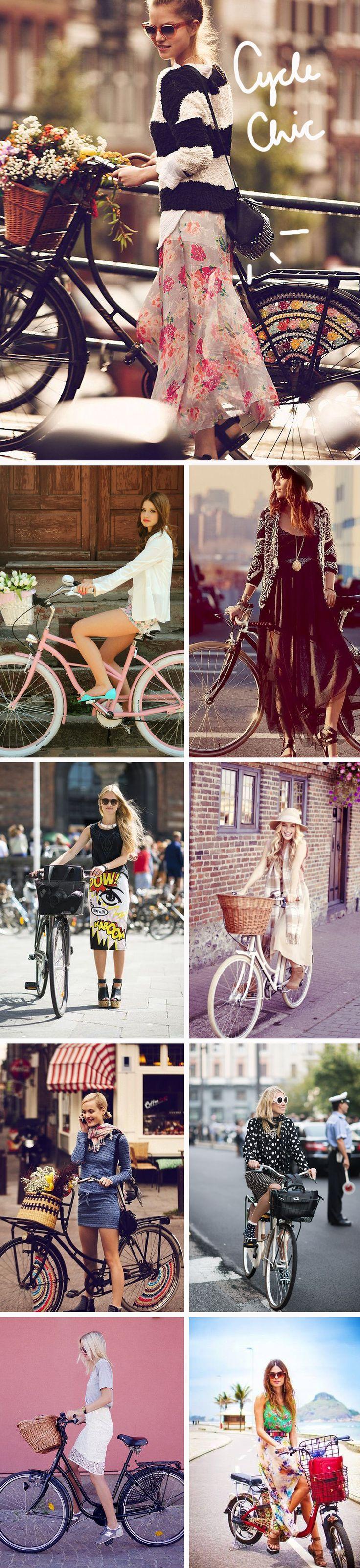 Estilo Cycle Chic, para quem adora andar de bicicleta bem vestido www.meninait.com