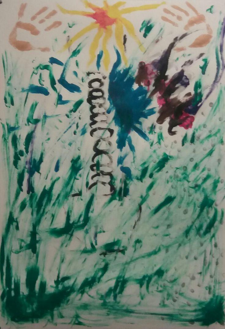 """GEWINNER: Ausdruck der gewonnenen Hoffnung über die Angst, Verzweiflung....""""Kunsttherapie"""" """"Kunst"""" """"Genesung""""   """"Fingermalerei"""" """"Begleittherapieukm"""" """"Gewinner"""" """"cccm"""""""