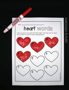 Activity for ages 4 to 8. Since sight words are the most common words written, memorizing them helps kids increase their reading fluency in a jiffy. That's why we love coming up with fun sight word games for kids! Whether you're on the hunt for a playful Valentine's Day literacy center, word work center or sight …